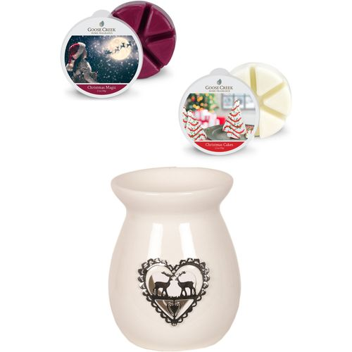 Aromatize Wax Melt Burner & Goose Creek Melts: Metallic Reindeer