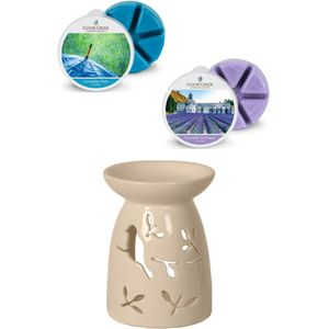 Aroma Wax Melt Burner & Wax Melts Set: Birds