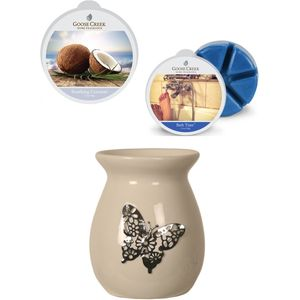 Aroma Wax Melt Burner & Wax Melts Set : Butterfly