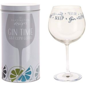 Dartington Gin Copa G&T Glass: Eat Sleep Gin Repeat