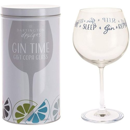 Dartington Gin Copa G&T Glass: Gin Time Collection Eat Sleep Gin Repeat