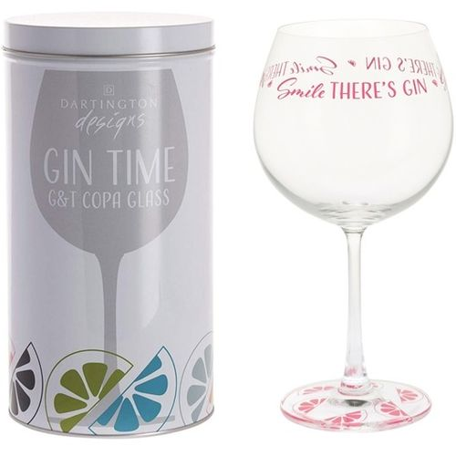 Dartington Gin Copa G&T Glass: Gin Time Collection Smile There`s Gin