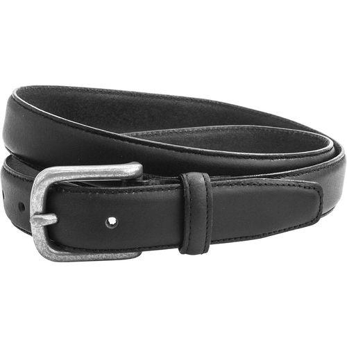 "Leather Casual Chino Belt Burnished Edge: Black Size S Waist 32"" -  34"""
