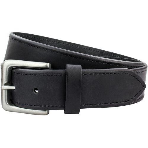 "Full Grain Leather Belt Chamfered Edge: Black Size Small Waist 32"" - 34"""