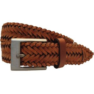 Leather Mens Plaited Belt