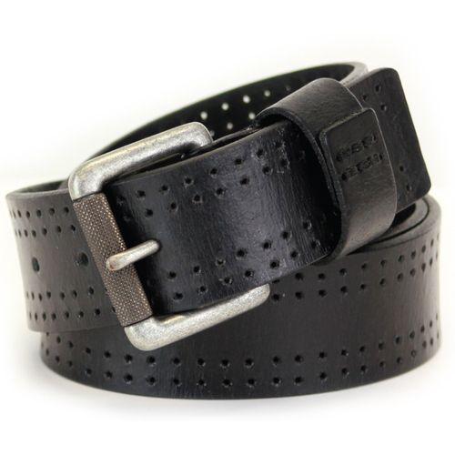 "Full Grain Leather Jeans Belt - Black Size Small Waist 32"" - 34"""
