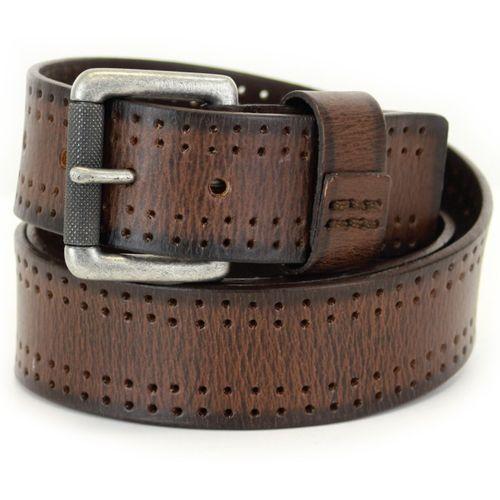"Full Grain Leather Jeans Belt - Brown Size Large Waist 38"" -40"""