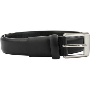 Stretch Belt with Silver Buckle, Black (30mm)