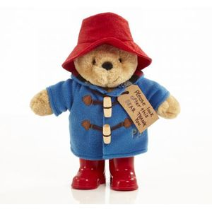 Classic Paddington Bear With Boots Plush Soft Toy