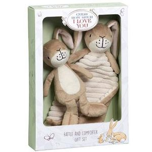 Little Nutbrown Hare Rattle & Comfort Blanket Gift Set
