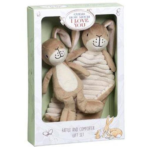 Little Nutbrown Hare Rattle & Comfort Blanket Gift Set
