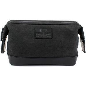 Waxed Canvas Wash Bag: The Navigator (Black)