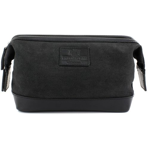 British Bag Company Waxed Canvas Wash Bag: The Navigator Collection (Black)