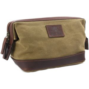Waxed Canvas Wash Bag: The Navigator (Camel)