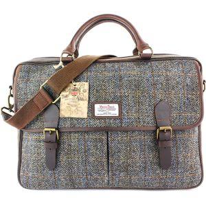 Harris Tweed Briefcase Satchel Leather Trim: Carloway