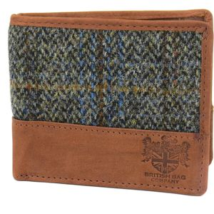 Harris Tweed Wallet: Carloway Blue