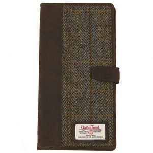 Harris Tweed Travel Document Wallet: Carloway Blue