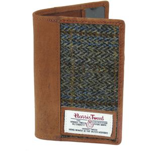 Harris Tweed Passport Holder Leather Trim: Carloway