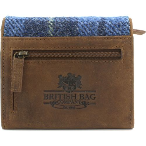 Harris Tweed Small Purse: Castle Bay Blue Tartan