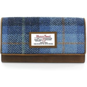 Harris Tweed Purse (Large): Castle Bay Blue Tartan