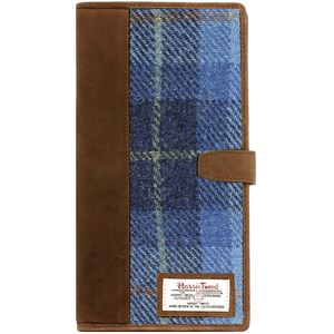 Harris Tweed Travel Document Wallet: Castle Bay Blue
