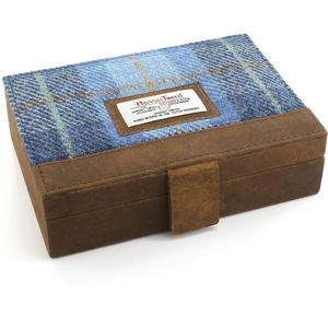 Harris Tweed Jewellery Box: Castle Bay Blue Tartan