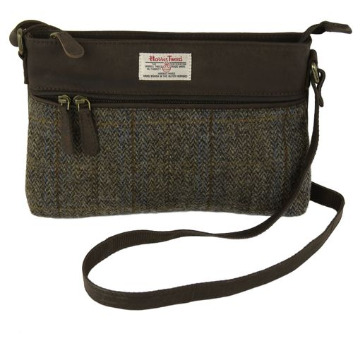 Harris Tweed Handbag: Carloway Blue & Beige