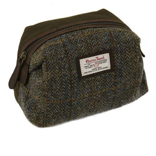 Harris Tweed Make Up & Cosmetic Bag: Carloway