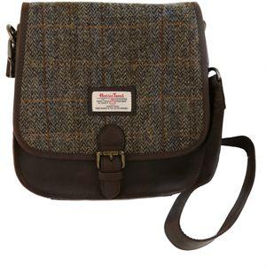 Harris Tweed Saddle Bag Carloway Blue