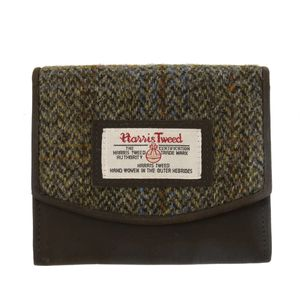 Harris Tweed Purse (Small): Carloway Blue