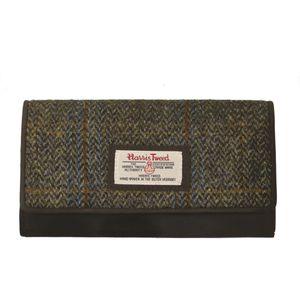 Harris Tweed Purse (Large): Carloway Blue & Beige