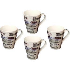 Leonardo Collection Scottish Heritage 4 Coffee Mugs Set