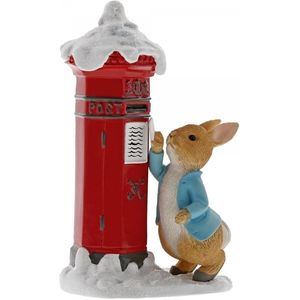 Peter Rabbits Letter to Santa Figurine