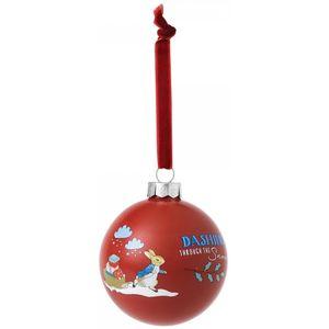 Beatrix Potter Peter Rabbit Christmas Bauble - Dashing Through The Snow