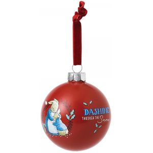 Beatrix Potter Peter Rabbit Christmas Bauble - Mrs Rabbit & Peter
