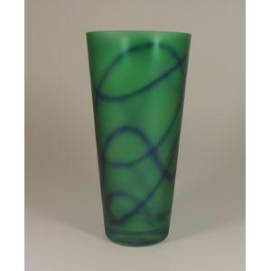 Bohemia Glassware Graffiti Glass Vase - Green