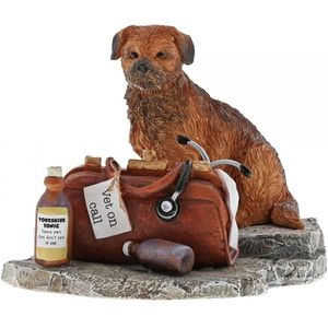 Vet On Call Border Terrier Dog Figurine
