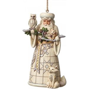 Heartwood Creek Hanging Ornament White Woodland Santa