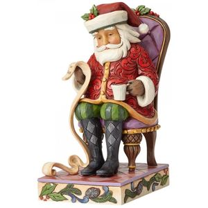 Heartwood Creek Christmas Wishes Granted (Santa in Chair) Figurine