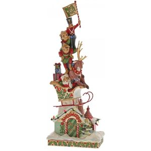 Heartwood Creek Heaped with Holiday Cheer (Santa Stacked) Figurine