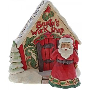 Heartwood Creek Santa & Santas Work Shop Figurines Set