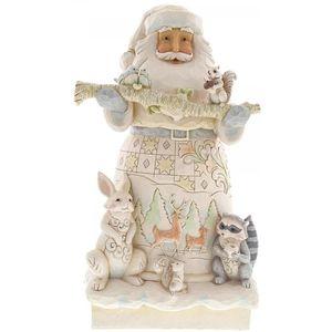 Heartwood Creek White Woodland Figurine Santa Statue