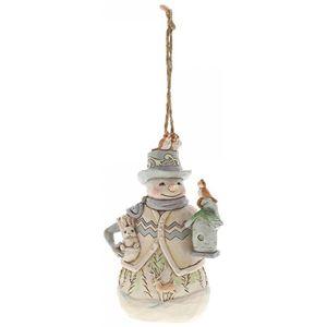 Woodland Snowman/Birdhouse Hanging Ornament