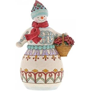 Heartwood Creek Winter Wonderland Snowman Figurine - Deliver Cheer