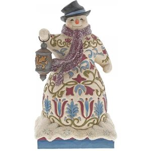 Heartwood Creek Be The Light Snowman Figurine