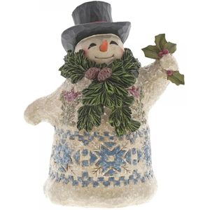 Heartwood Creek Winter Greetings Snowman Figurine