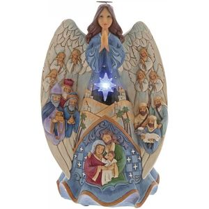 Heartwood Creek Angel Figurine - Musical Nativity (Lighted)