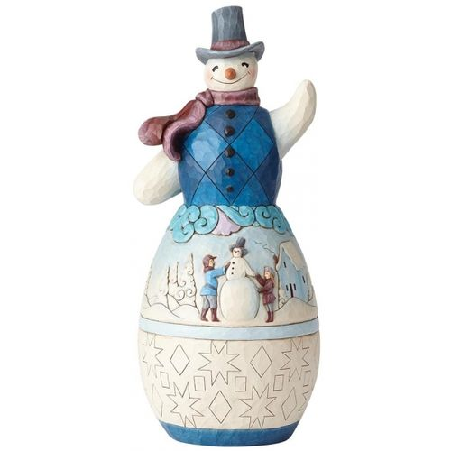 Heartwood Creek Snowman Statue - Winter Scene 6001523