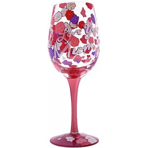 Lolita Hand Painted Wine Glass - I Love You Mum
