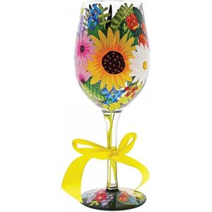 Lolita Wild Flowers Wine Glass